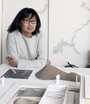 """Maya Lin's exhibit, """"A River Is a Drawing""""  opens Oct. 12 at the Hudson River Museum in Yonkers."""