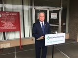 Rockland County Executive Ed Day announced that a developer has withdrawn an offer to buy the closed Sain Building for $4.5 million during a news conference in New City Oct. 9, 2018.