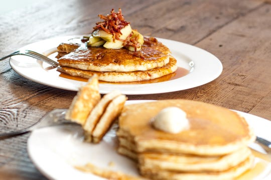 Caramel apple pancakes are served at Drip Cafe in Hockessin. Owner Greg Vogeley is opening a second cafe this month in Newark.