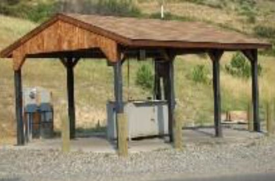 A fish-cleaning station from G.B. Knouff Company is pictured. A similar station will be placed at Lake Wichita through a grant from Arconic to the Lake Wichita Revitalization Committee.