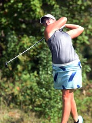 Zanesville grad Jewel Goins, pictured in this file photo from 2018, is among four local girls in the field at this year's Zanesville District Golf Association Amateur tournament.