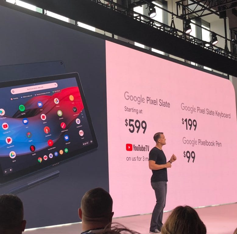 Google announces new Pixel Slate tablet with Chrome OS