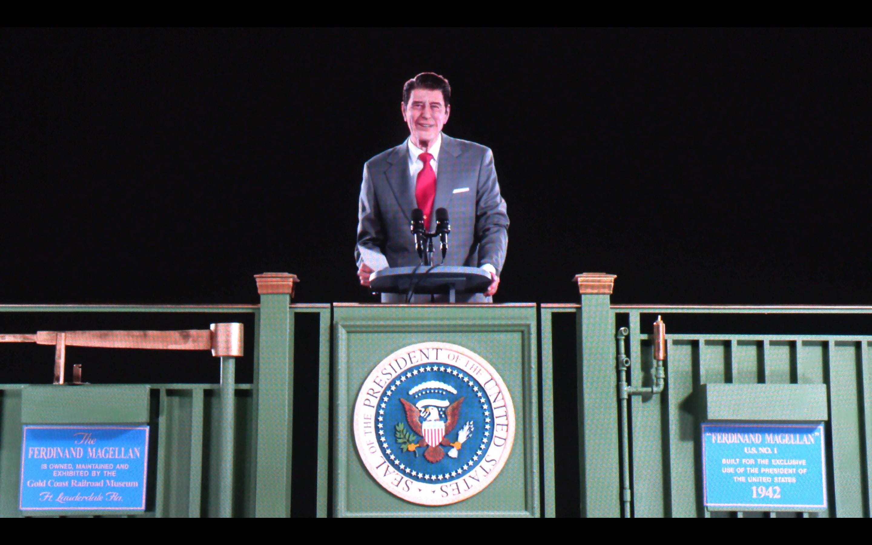 D Hologram Exhibition : Ronald reagan goes d in new hologram exhibit at his museum