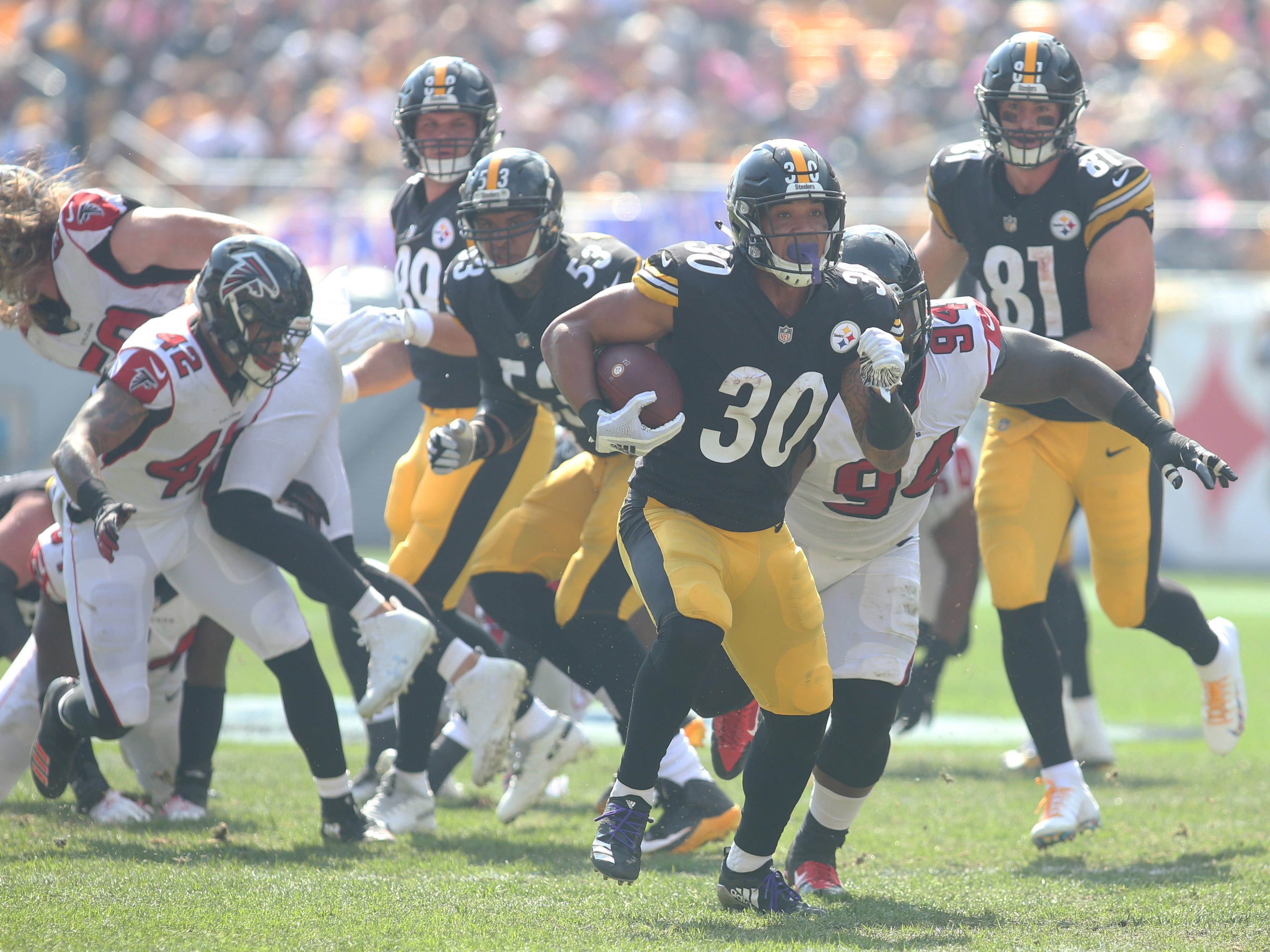 11. Steelers (16): Through five games last season, Le'Veon Bell had 515 yards from scrimmage. Through five games this year, James Conner has 581 yards.