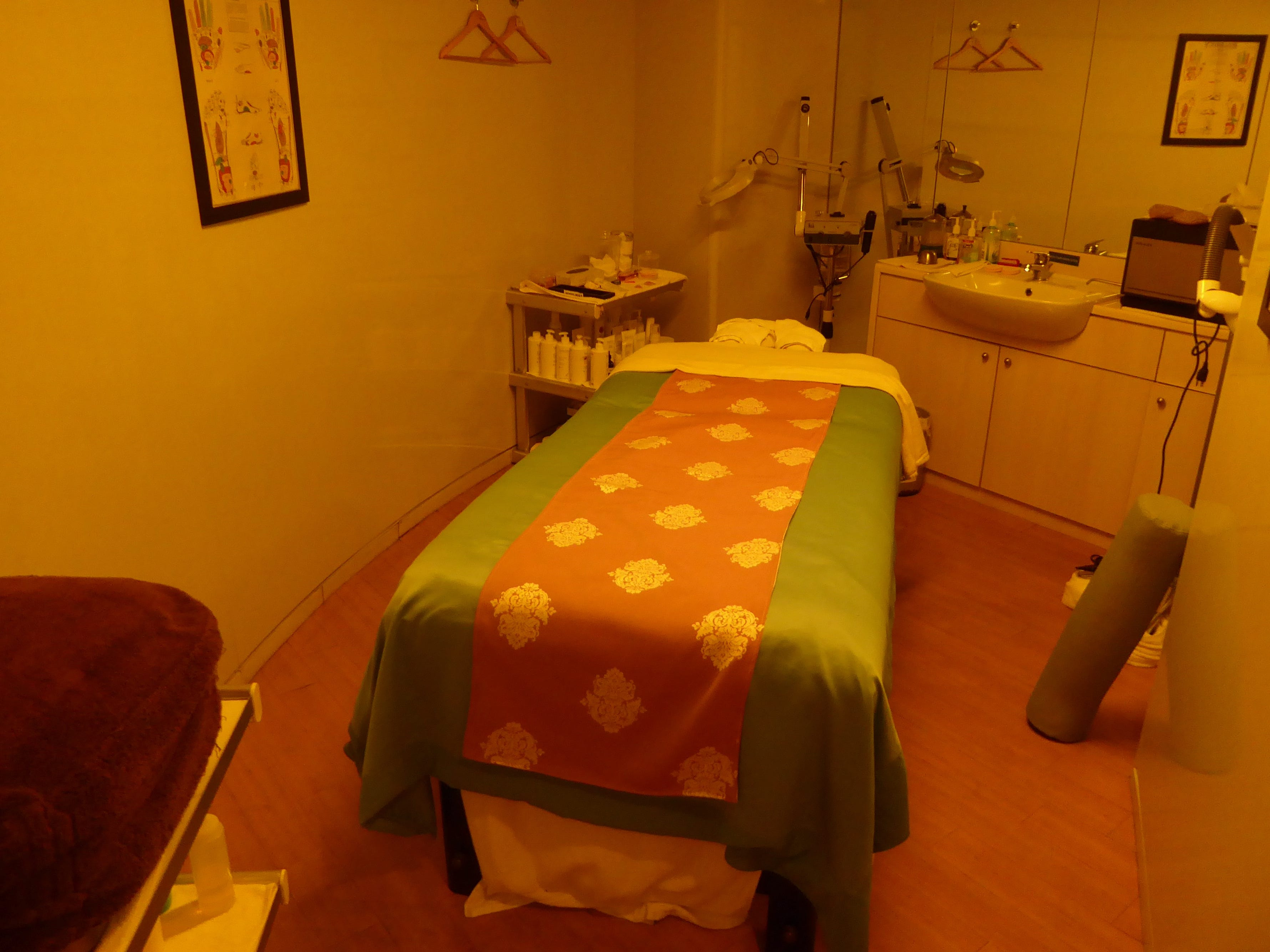 The Indulgence Spa has several treatment rooms offering a menu of massage and skin therapies. This is room No. 2.