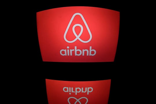 (FILES) This file photo taken on March 02, 2017 shows the logo of online lodging service Airbnb displayed on a computer screen in Paris. New York's mayor on Monday August 6, 2018 signed into law a landmark bill forcing home-sharing platforms such as Airbnb to disclose information about hosts and imposing hefty fines for non-compliance. / AFP PHOTO / Lionel BONAVENTURELIONEL BONAVENTURE/AFP/Getty Images ORIG FILE ID: AFP_1865LK