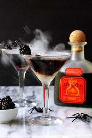 Halloween spooky chocolate chili cocktail