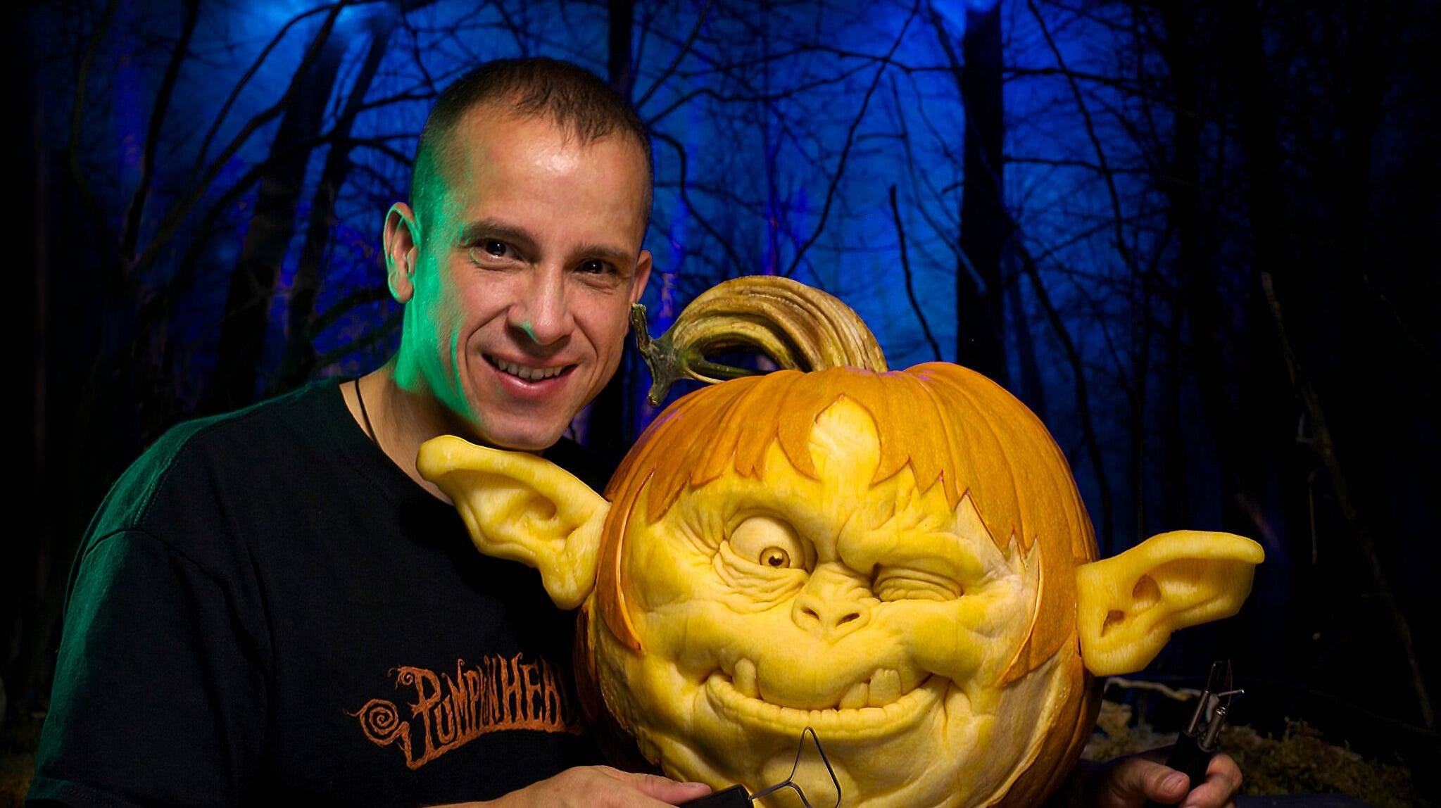 Ray Villafane of Villafane Studios in Carefree, Ariz. is one of the world's best pumpkin carvers.