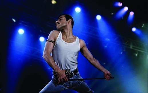 "Rami Malek is being praised for his performance as Freddie Mercury in biopic ""Bohemian Rhapsody."""