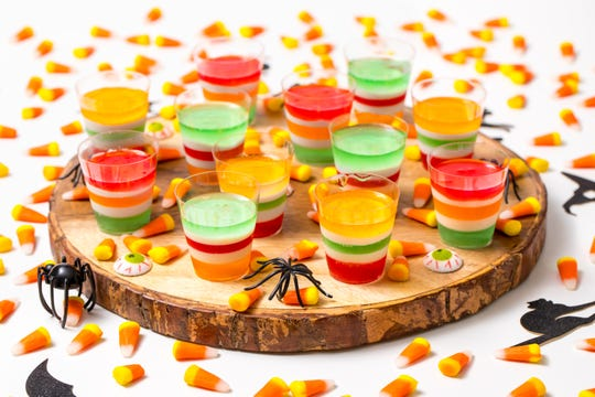 Halloween Jell-O shots