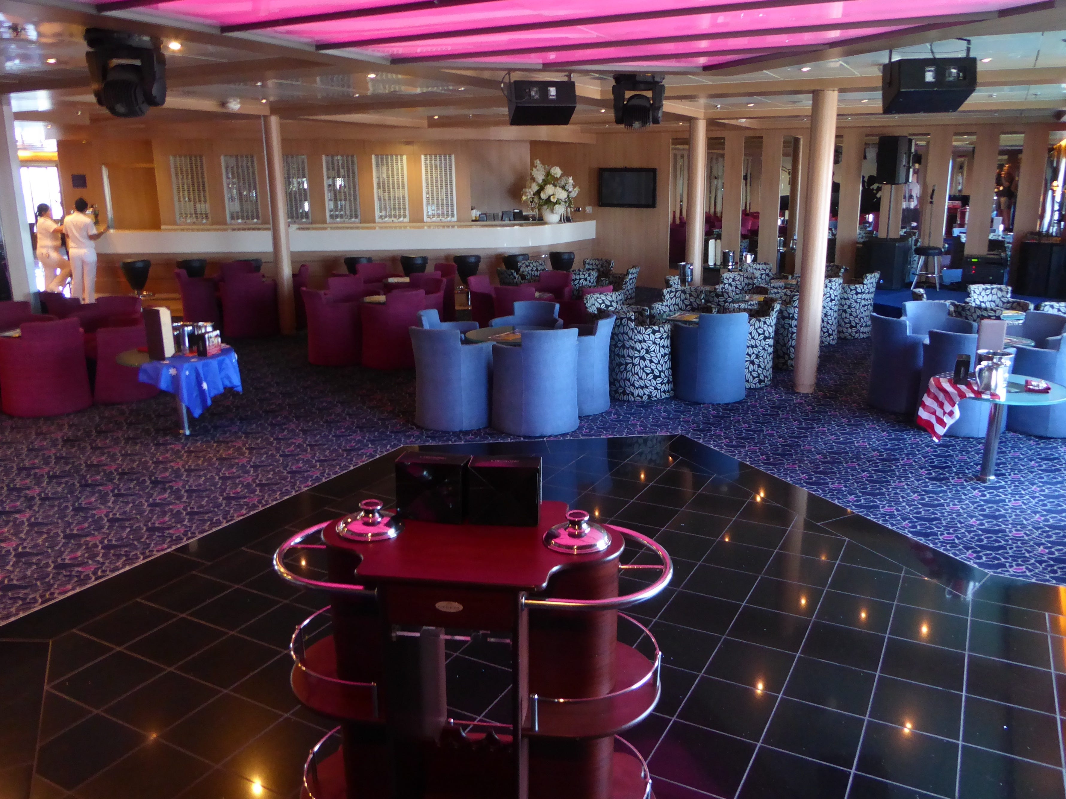 Named for the Regal Empress, another former classic liner that spent years sailing to the Bahamas from Florida, the Regal Room is a lounge and bar on Paradise Deck.