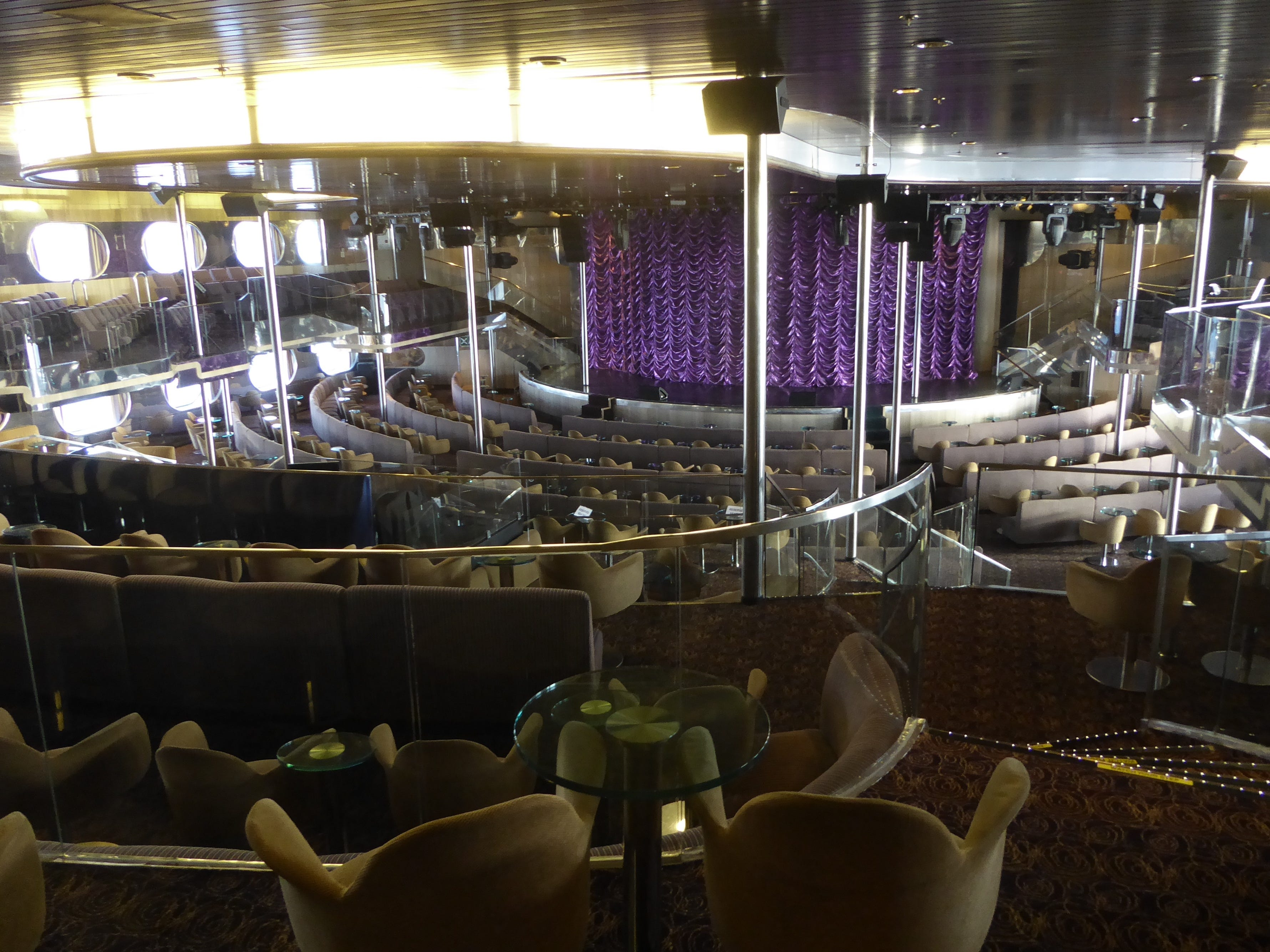 The double-deck Legends Grand Theater has no less than six terraces of seating.