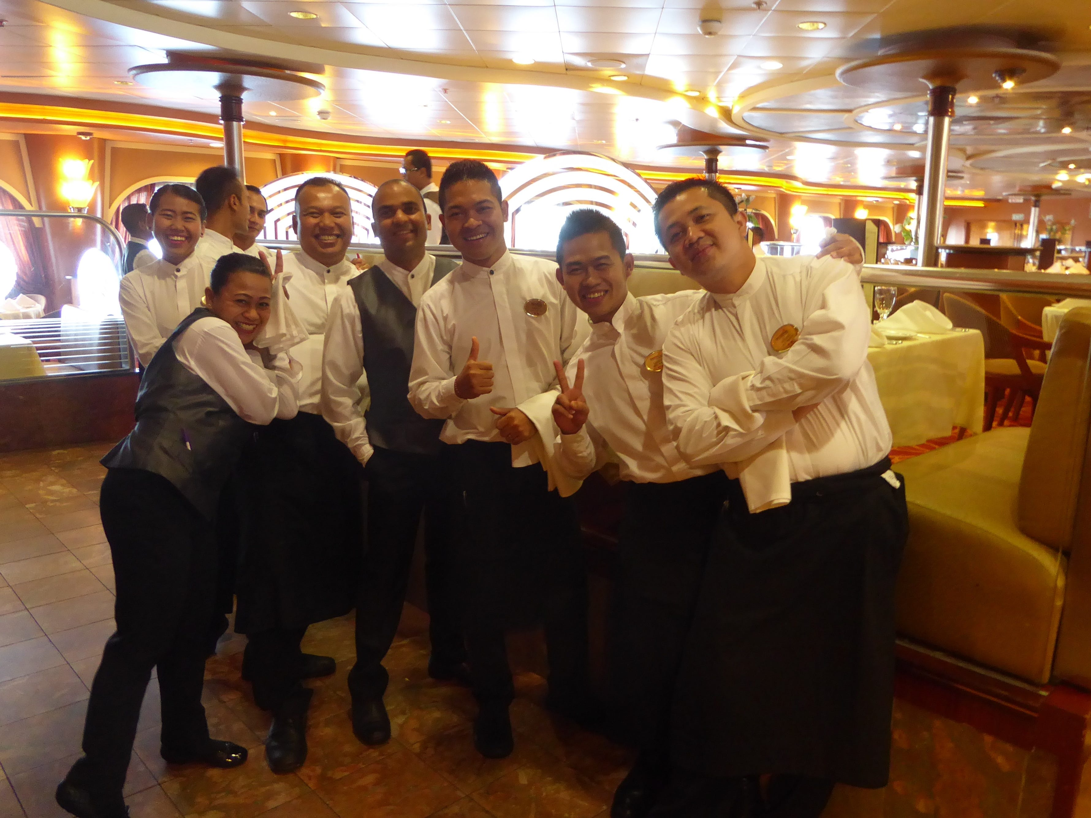 The Grand Celebration began Bahamas cruise service in late 2014. The ship is staffed by a friendly crew numbering 680.