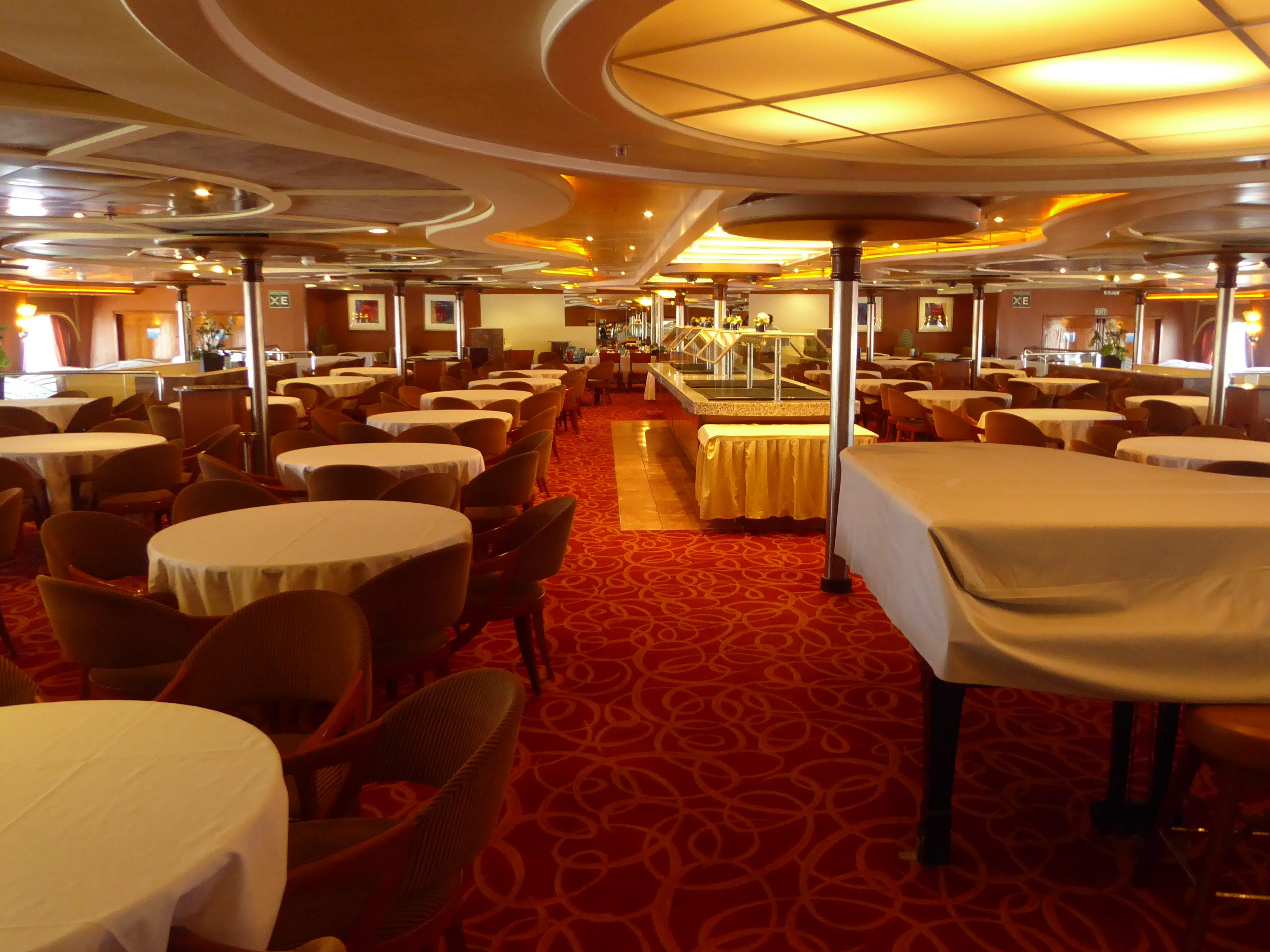 The included-in-the-fare Stellar Prime restaurant is at the aft end of Aries Deck.