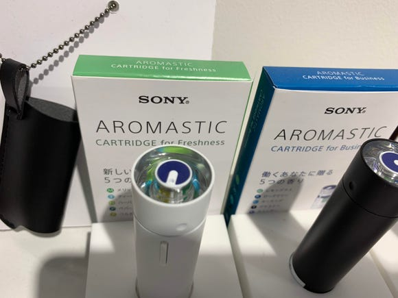 "Sony's ""personal aroma diffuser,"" brings five different scents from a cartridge into a portable product the size of lipstick."