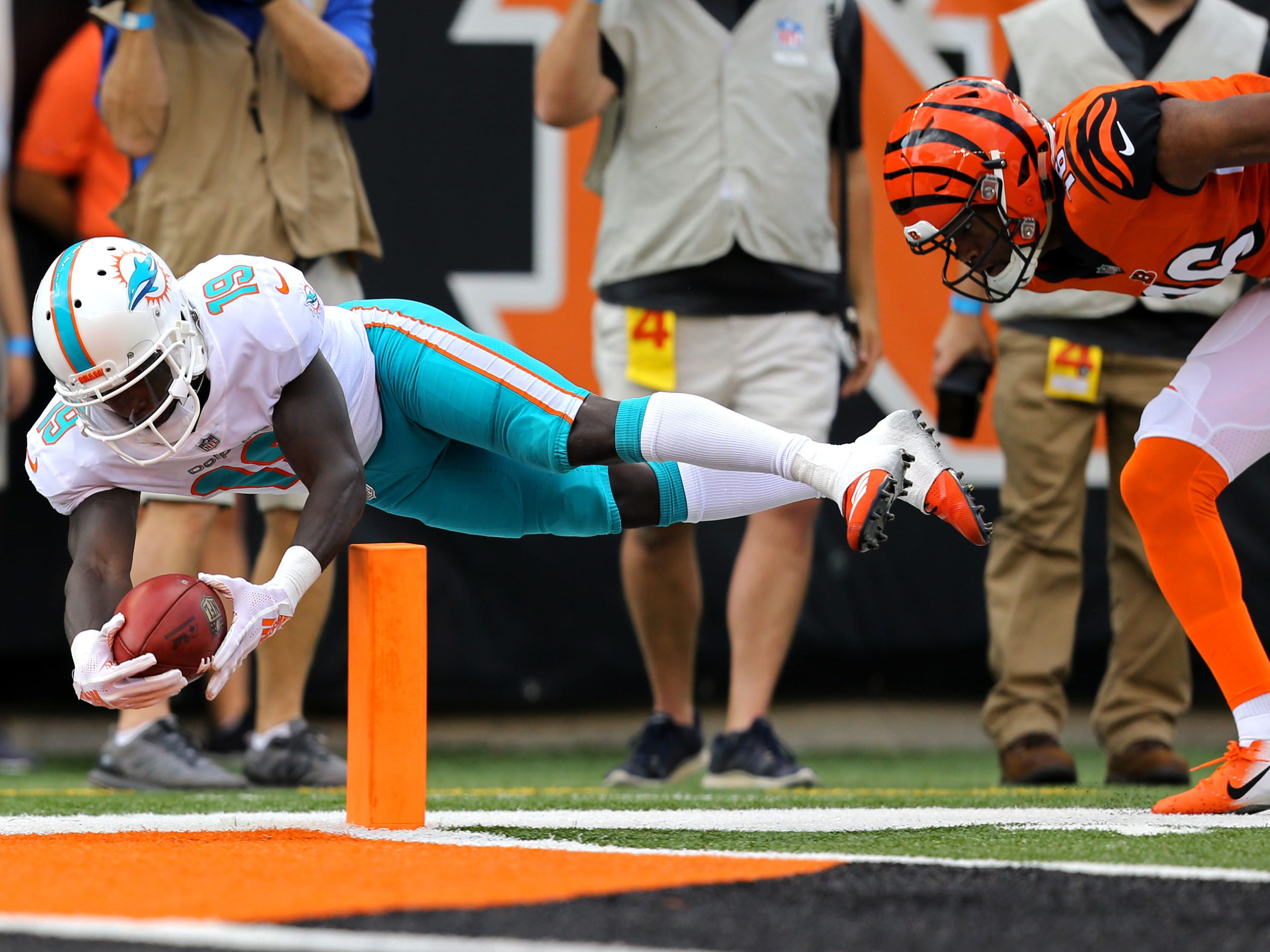 16. Dolphins (18): How much is offense struggling? Miami has more TDs on kick returns (both by Jakeem Grant) than on ground (one by Kenyan Drake in Week 2).