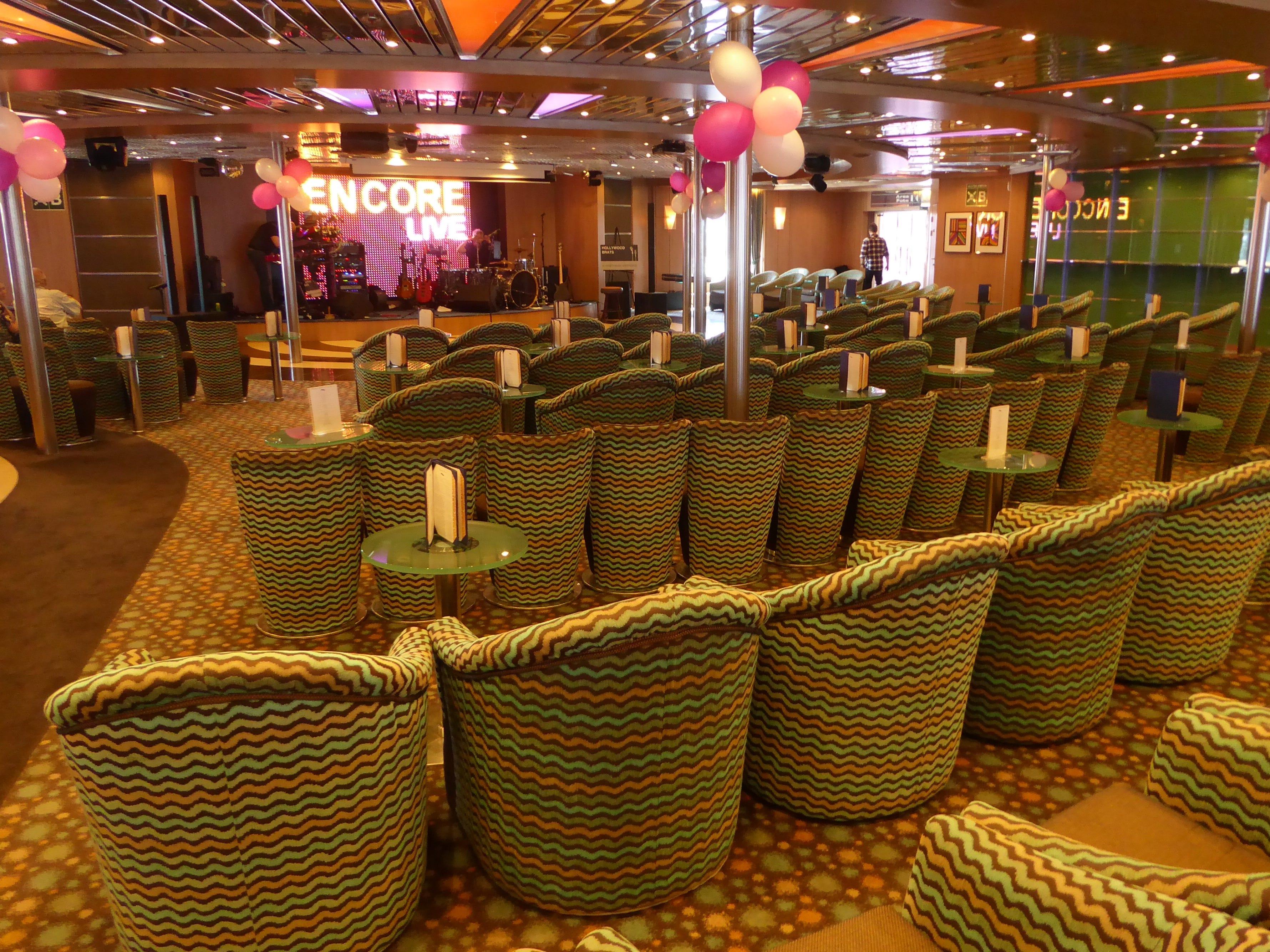 The Encore is used for movie screenings and live entertainment, including talented cover bands.