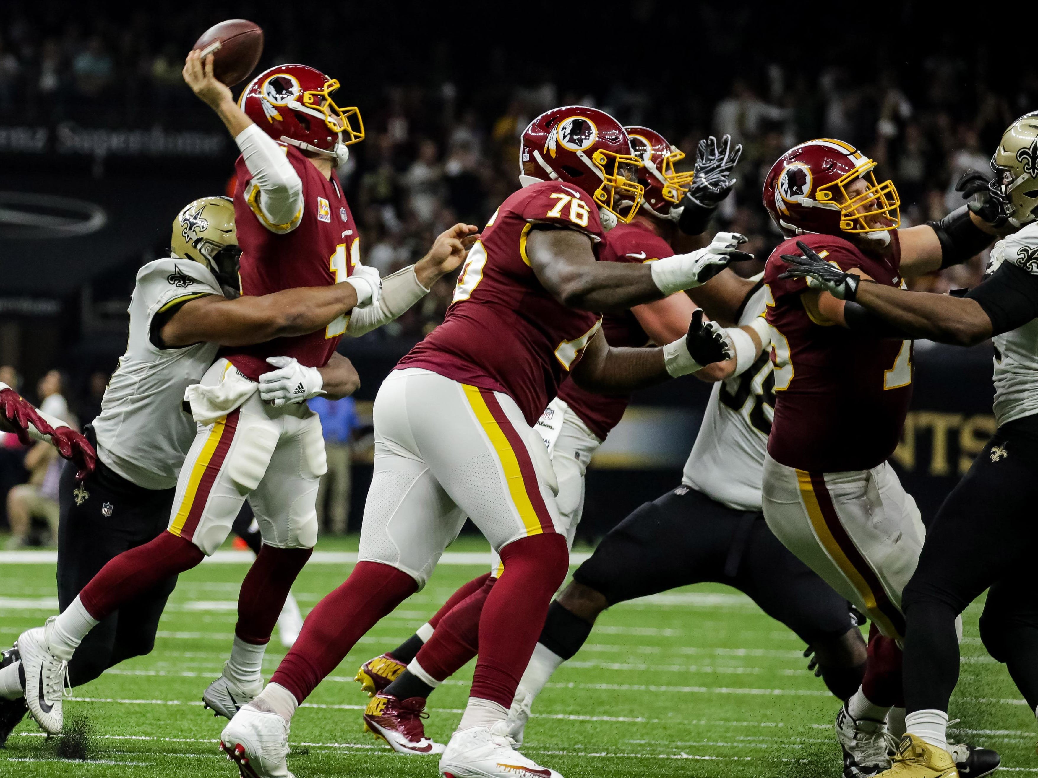 14. Redskins (10): They hadn't played in 15 days, and it showed Monday in New Orleans, where they got embarrassed. Still, 2-2 good enough for first in NFC East.