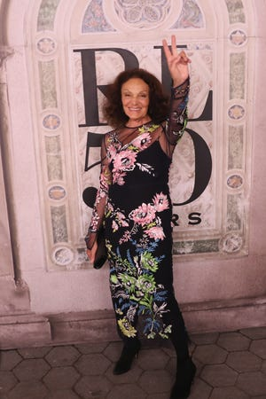 Diane Von Furstenberg attends the Ralph Lauren fashion show during New York Fashion Week at Bethesda Terrace on Sept. 7, 2018, in New York City.