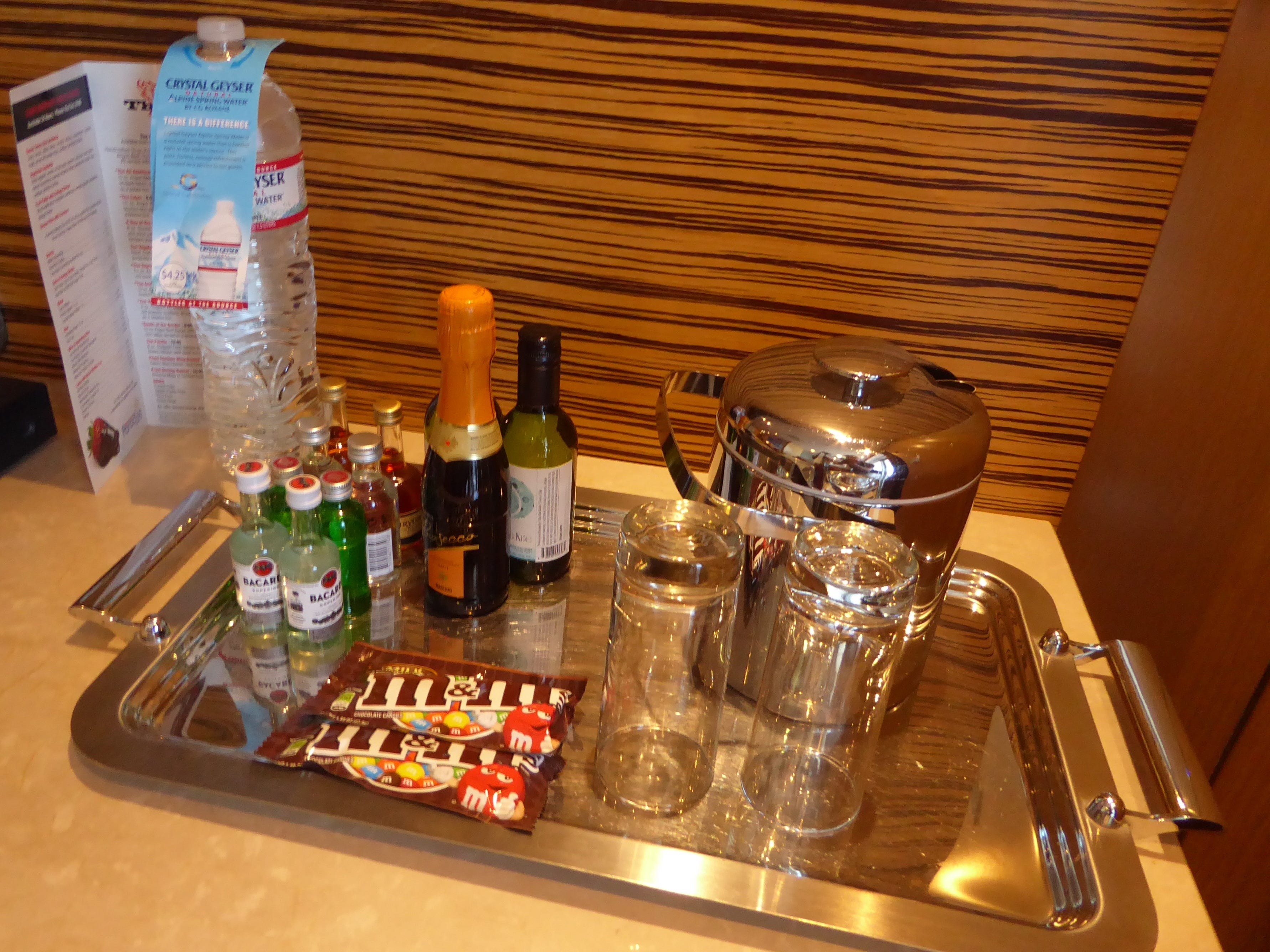 Deluxe Terrace Suites are supplied with beverages and snacks.