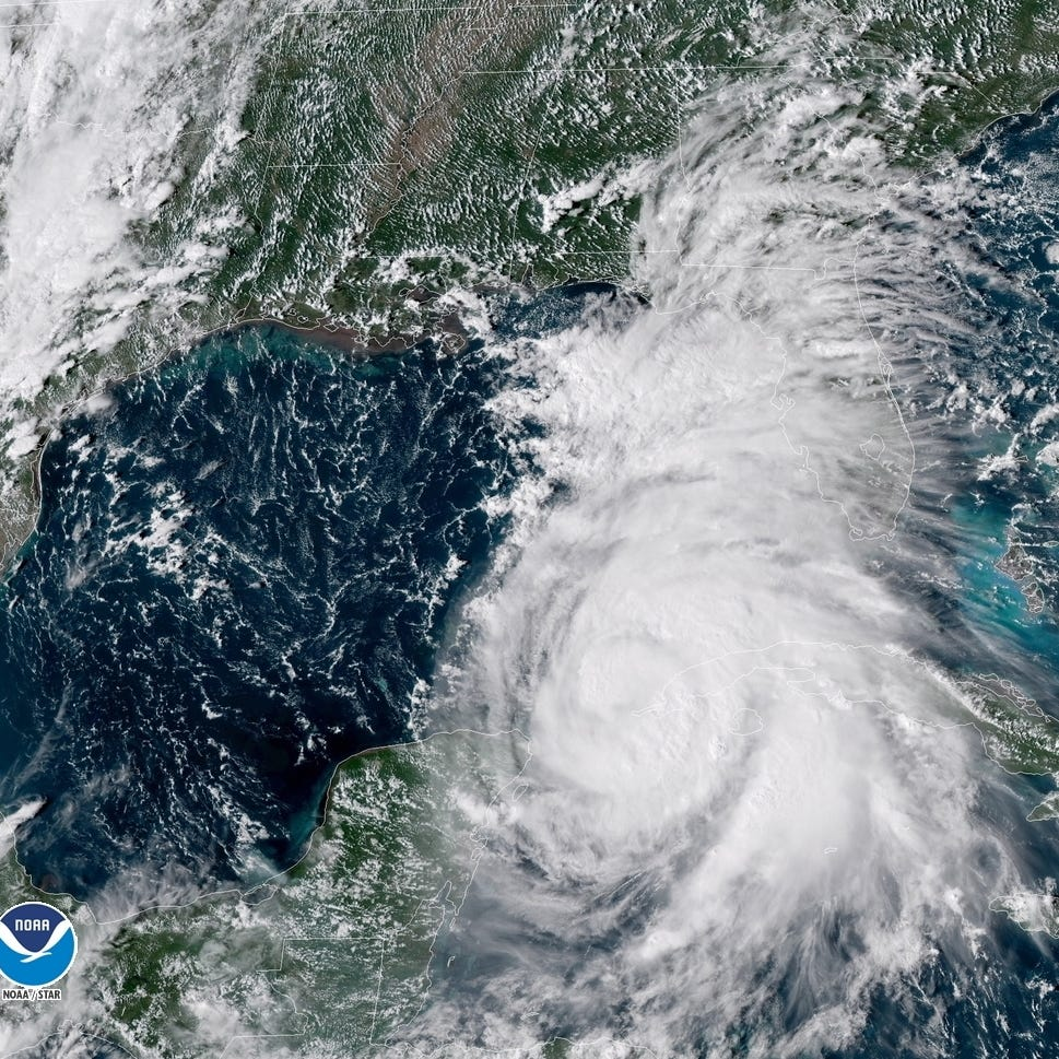 A Geo-Color satellite image of hurricane Michael provide by the National Oceanic and Atmospheric Administration (NOAA)   shows Hurricane Michael approaching the U.S. coast.