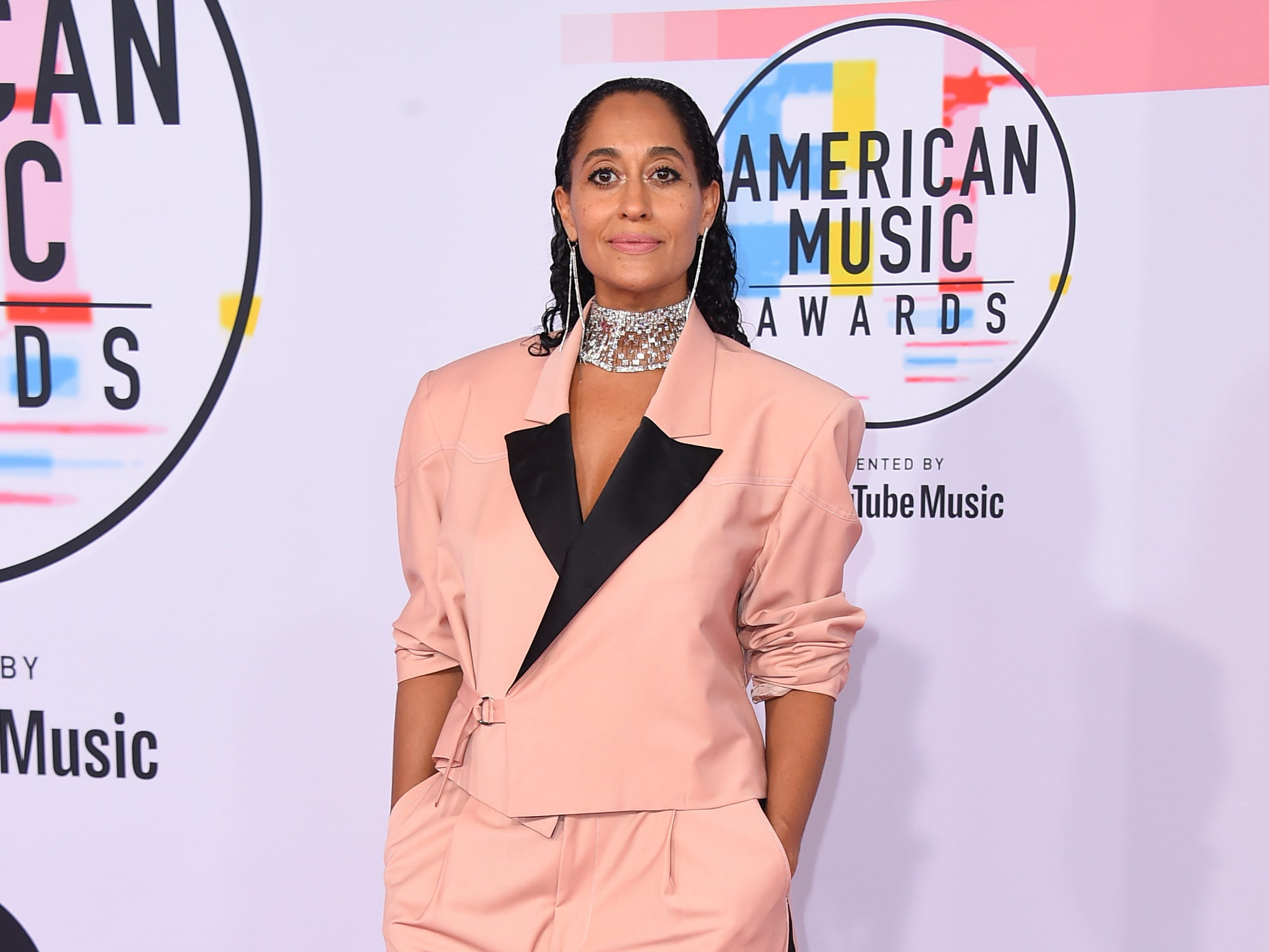 "The American Music Awards, hailed as ""the world's largest fan-voted awards show,"" were Tuesday at the Microsoft Theater in LA. Click ahead for views from the red carpet. Tracee Ellis Ross arrives for the award show."