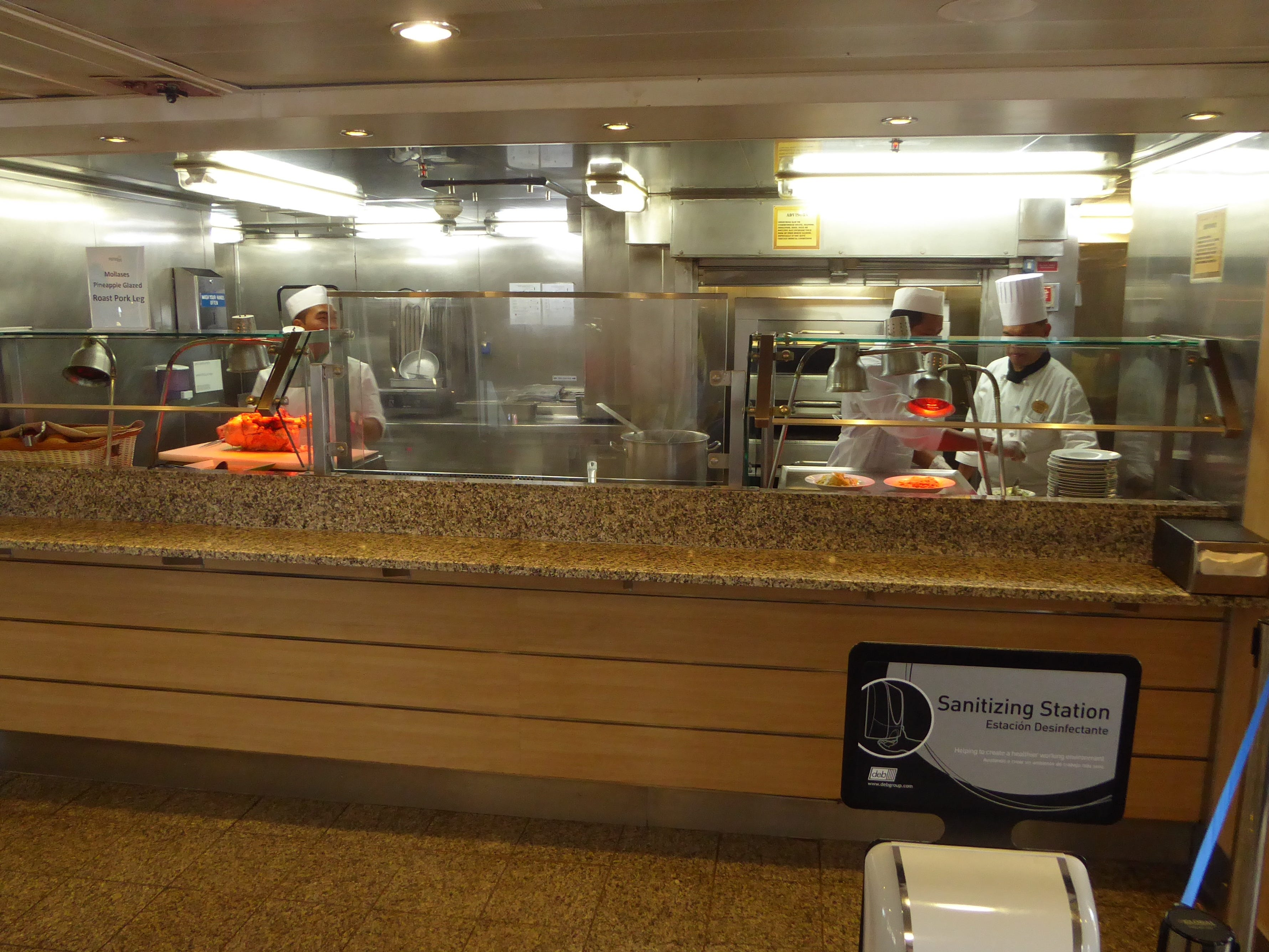 There is also a carvery and pizzeria in the Ocean View buffet.
