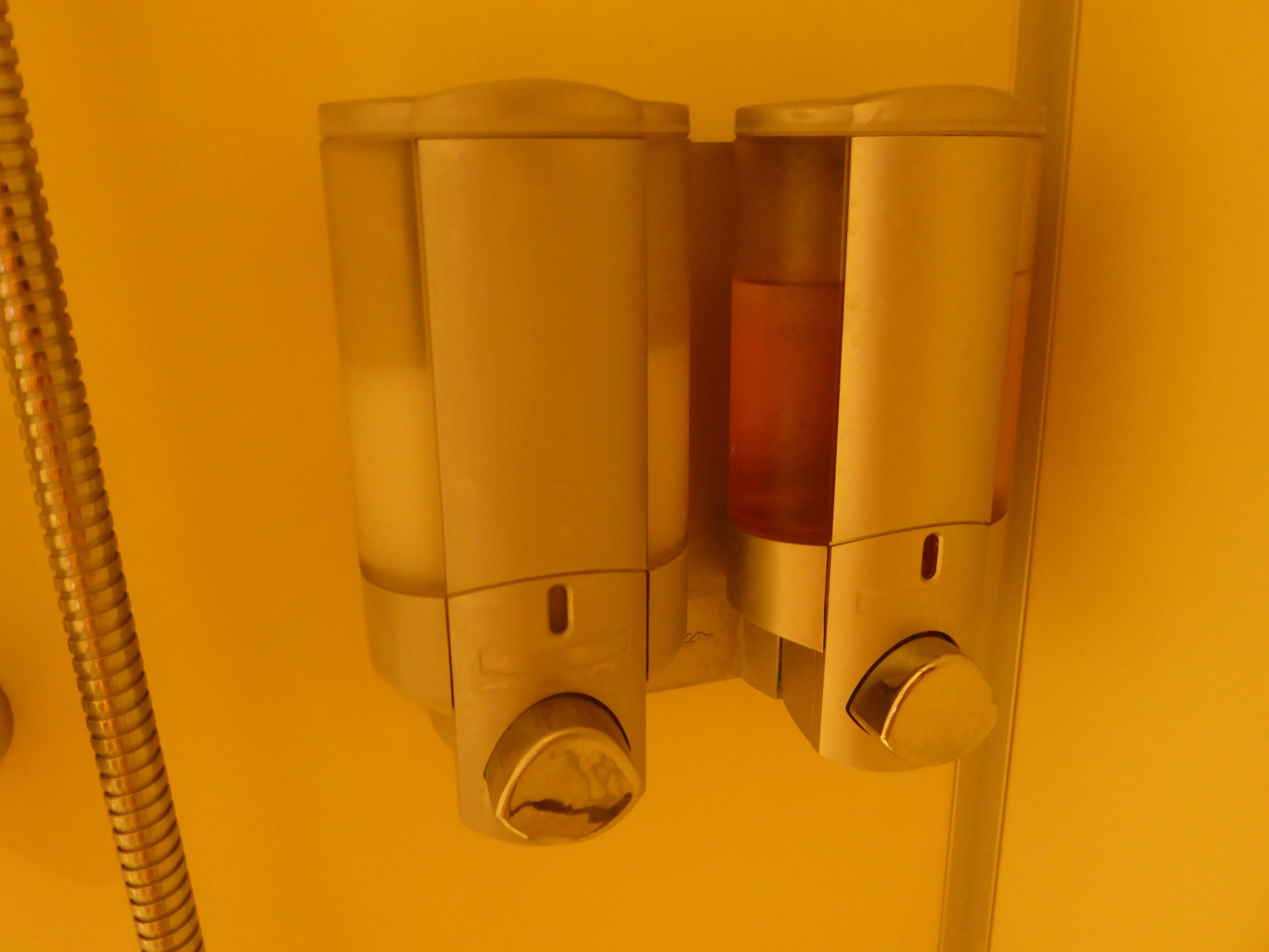 All Oceanview and Interior Stateroom bathrooms come with environmentally friendly soap and shampoo dispensers.