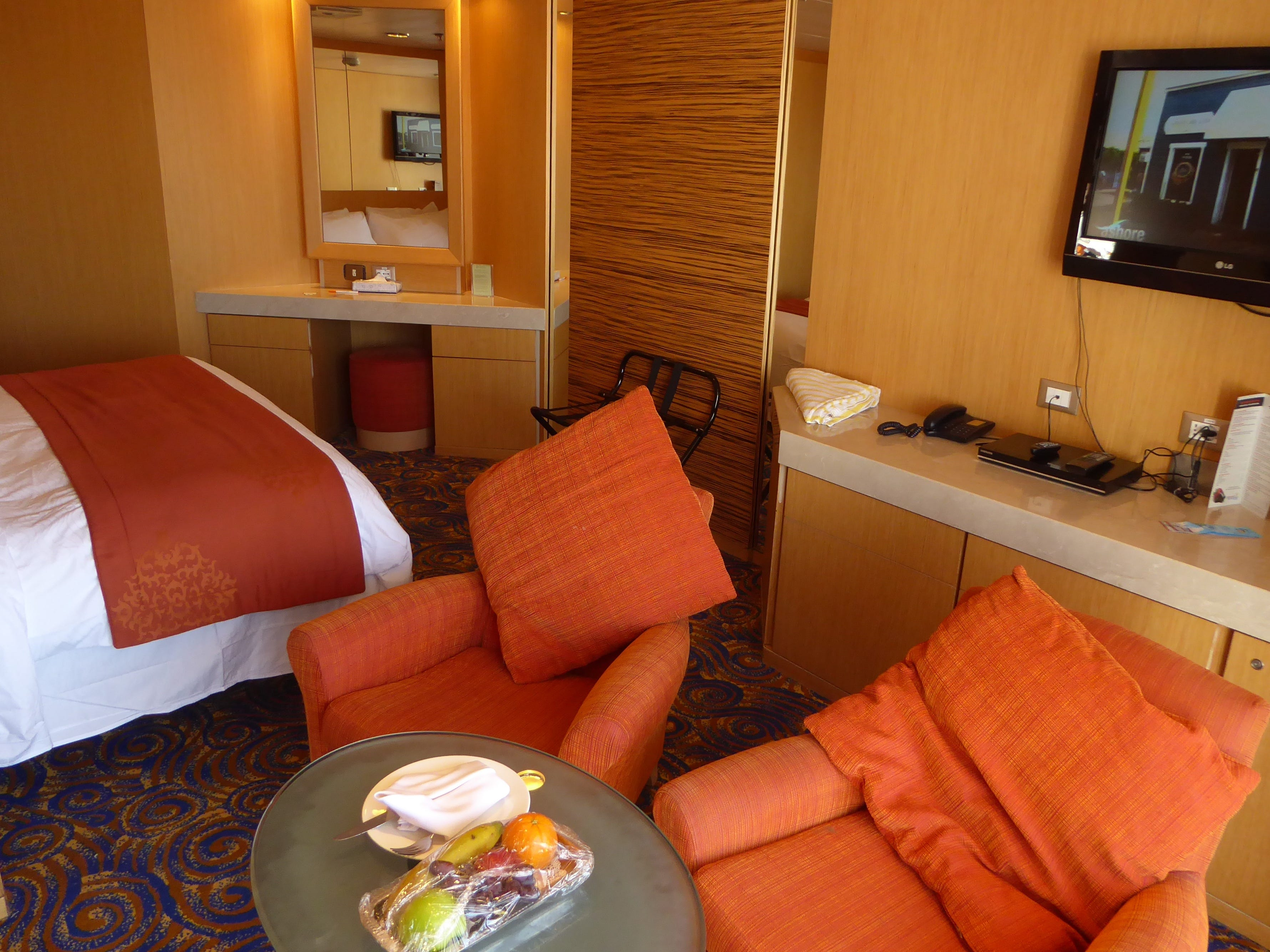Terrace Suites have a double bed and a living room area.
