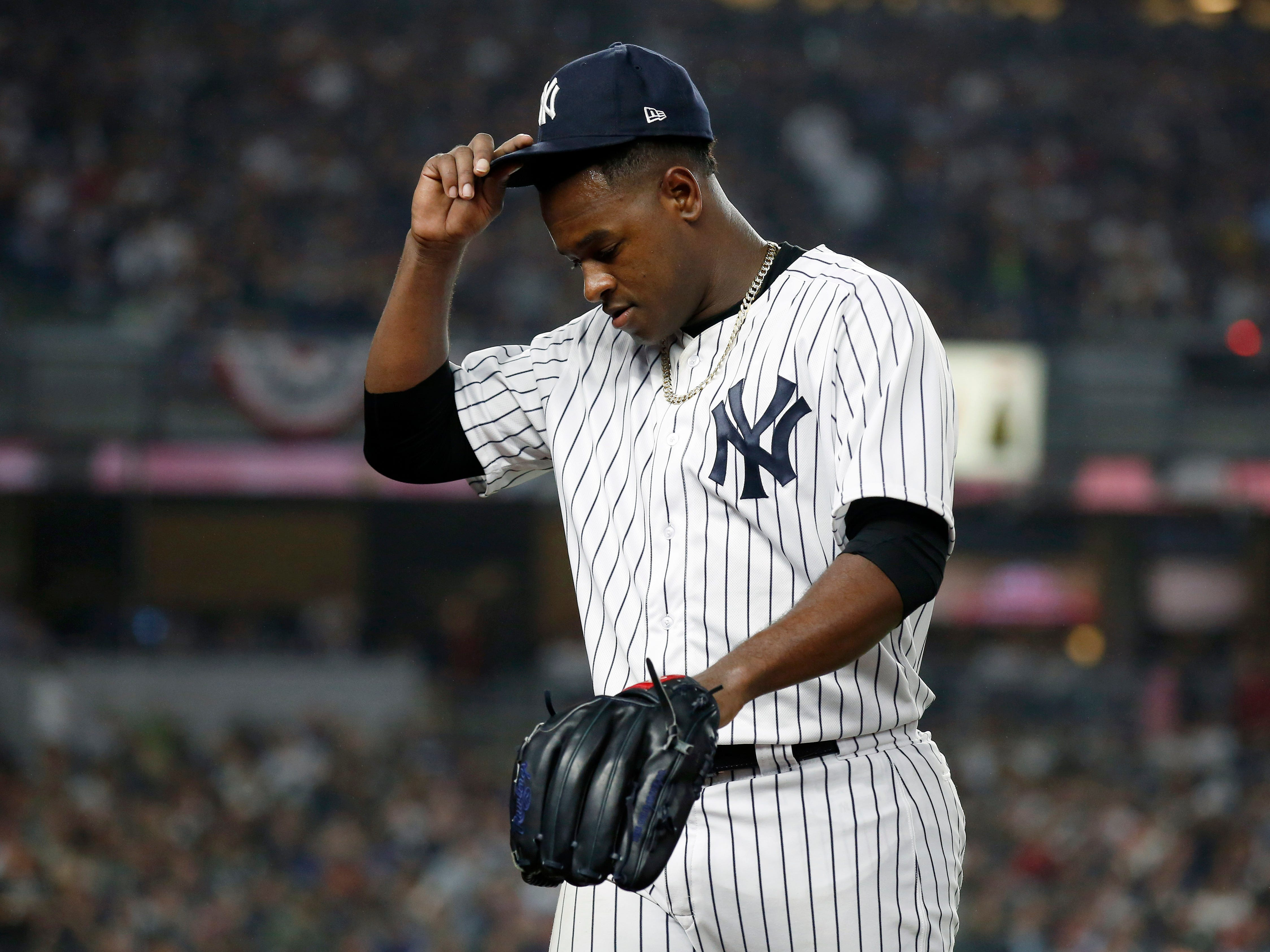ALDS Game 3: Yankees starting pitcher Luis Severino allows six earned runs in three innings.