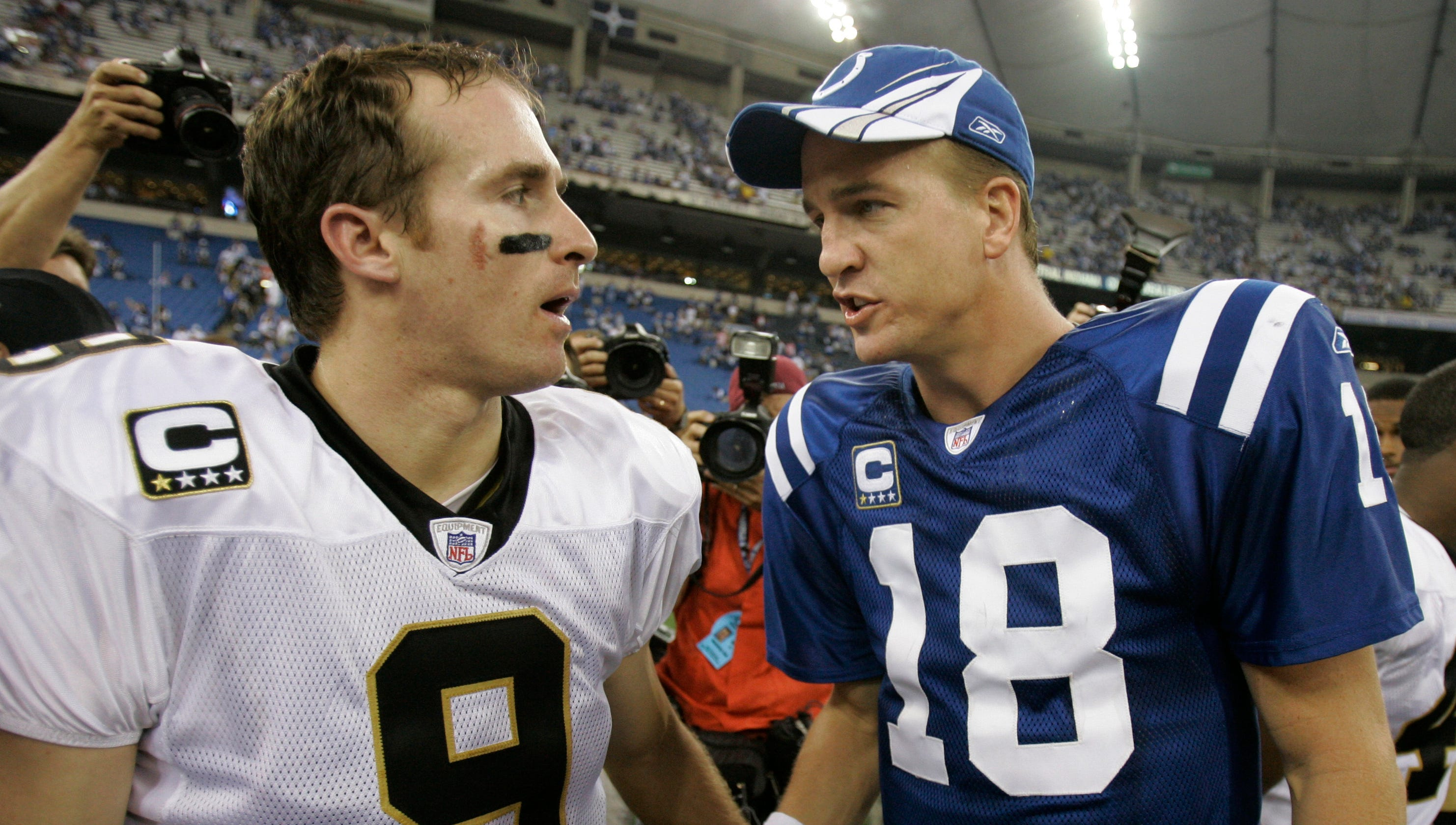 Peyton Manning congratulates Drew Brees for passing yards record in hilarious video
