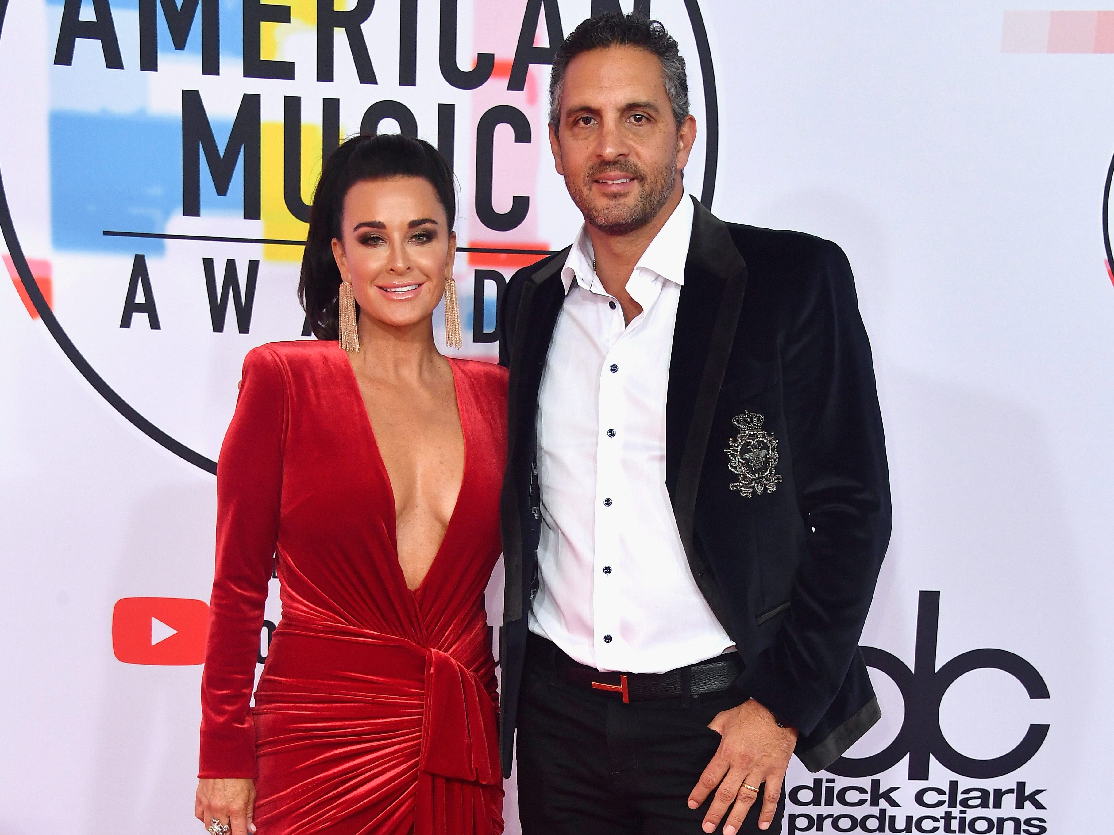 Kyle Richards, left, and Mauricio Umansky