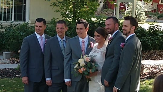 The West siblings at Kaley West Young's wedding.