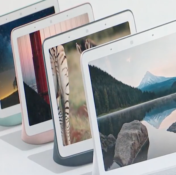 Google's Home Hub connected video display device
