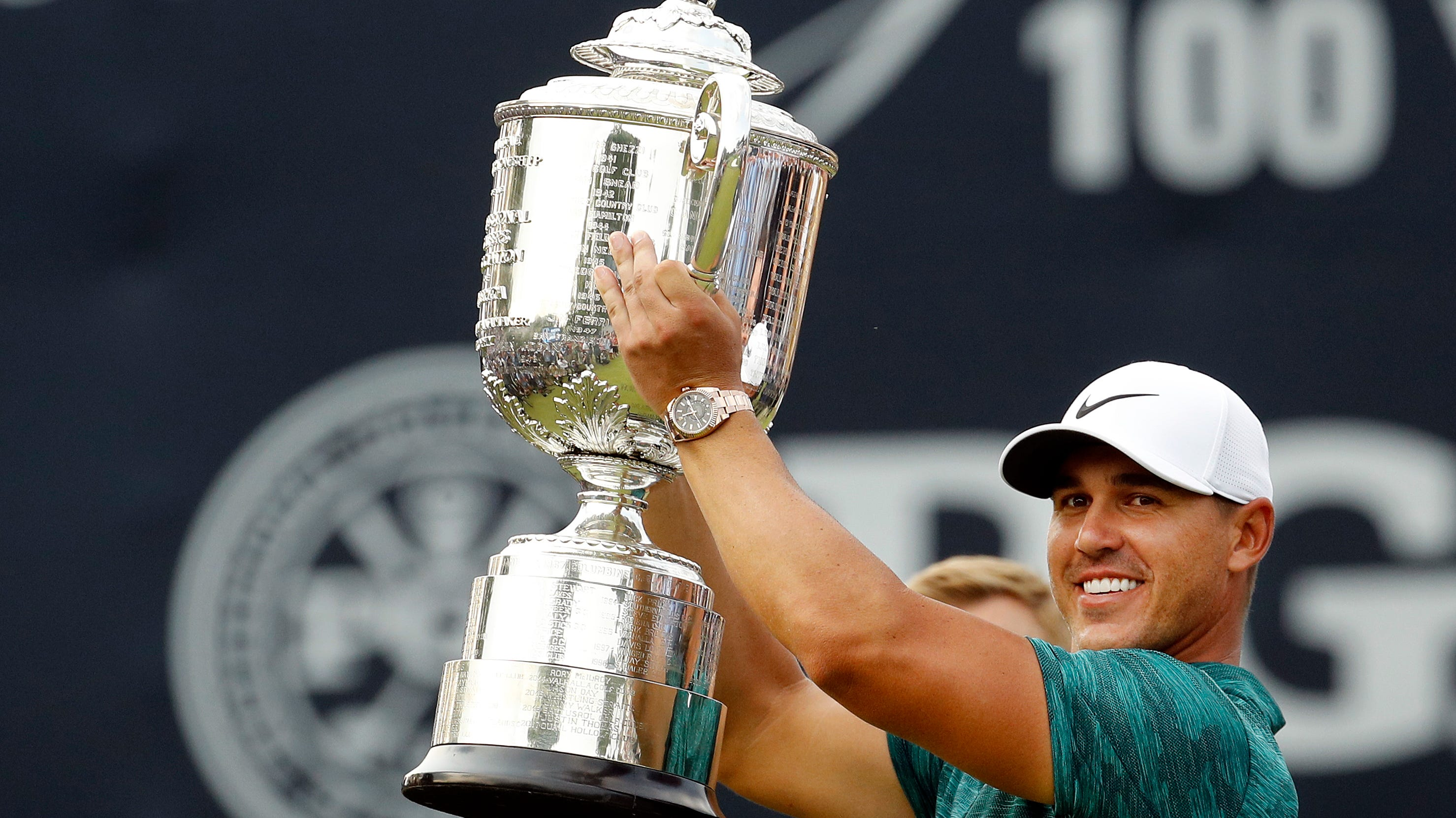 Brooks Koepka's two major titles earn him his first PGA Tour Player of the Year award