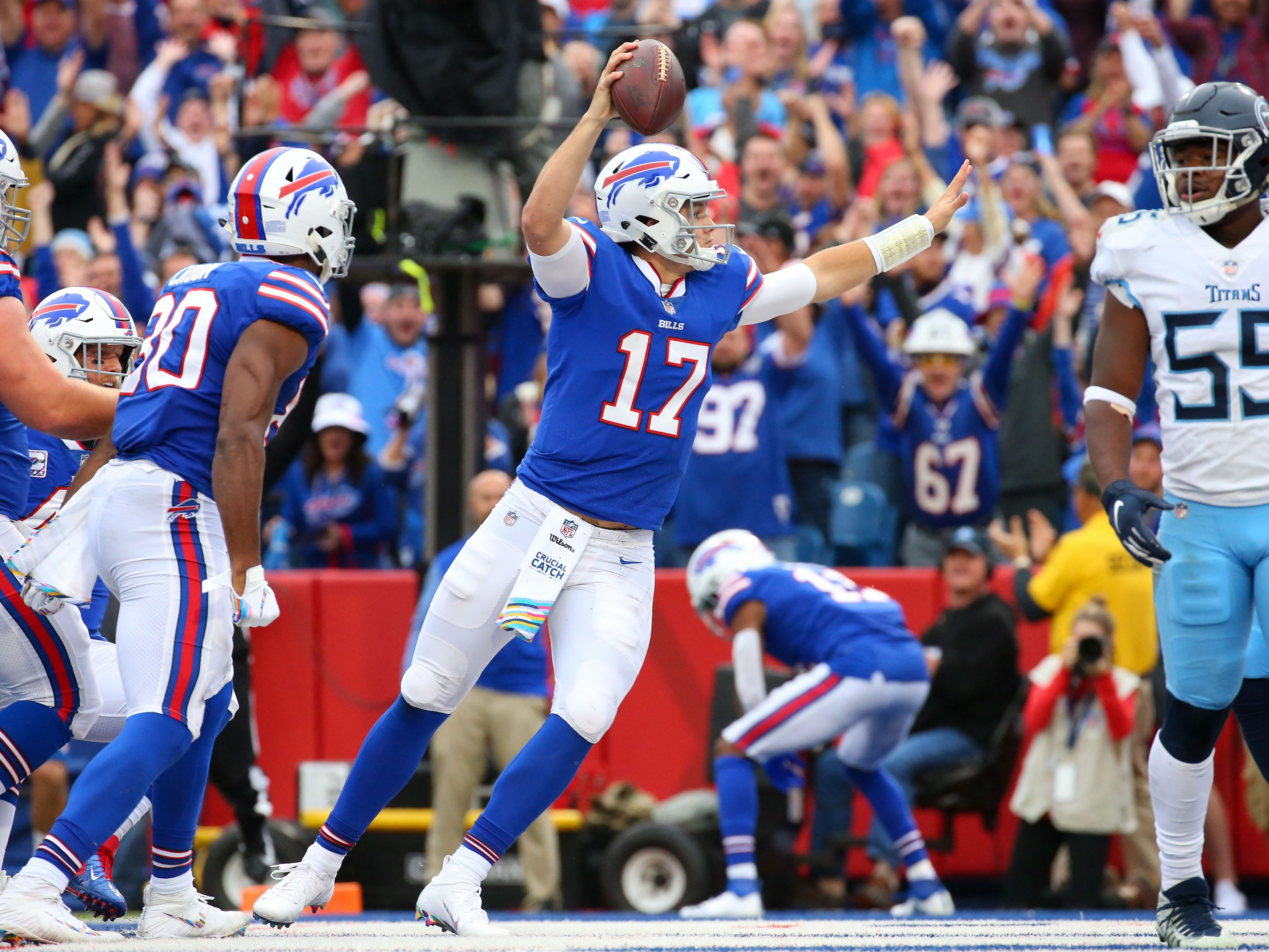 28. Bills (31): How has Josh Allen led Buffalo to two wins? No quarterback has been sacked (19) more, and none has a worse passer rating (60.4).