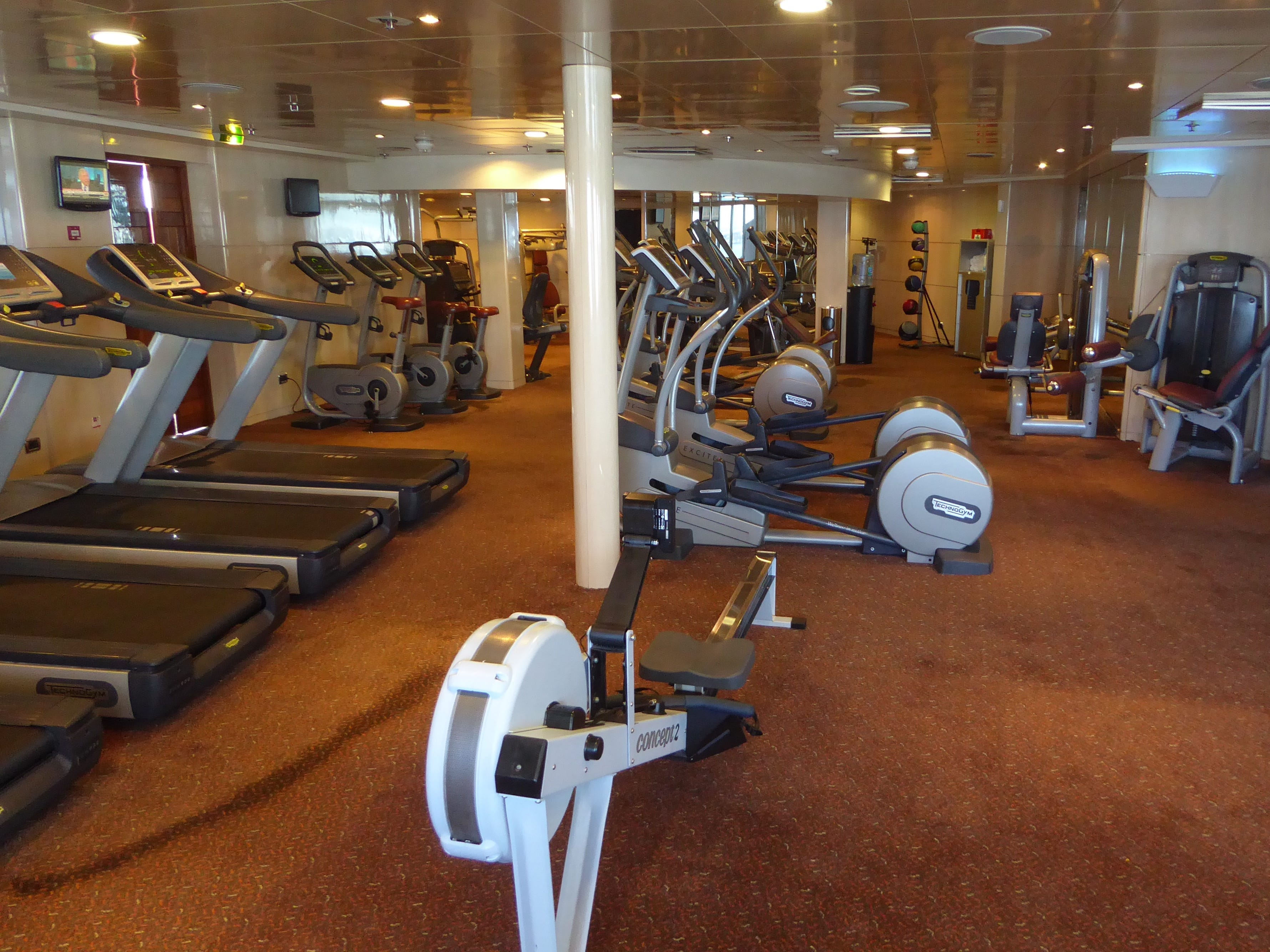 Accessed via the Indulgence Spa, the well-equipped Ship Shape Fitness Center is available for guests' use, free of charge.