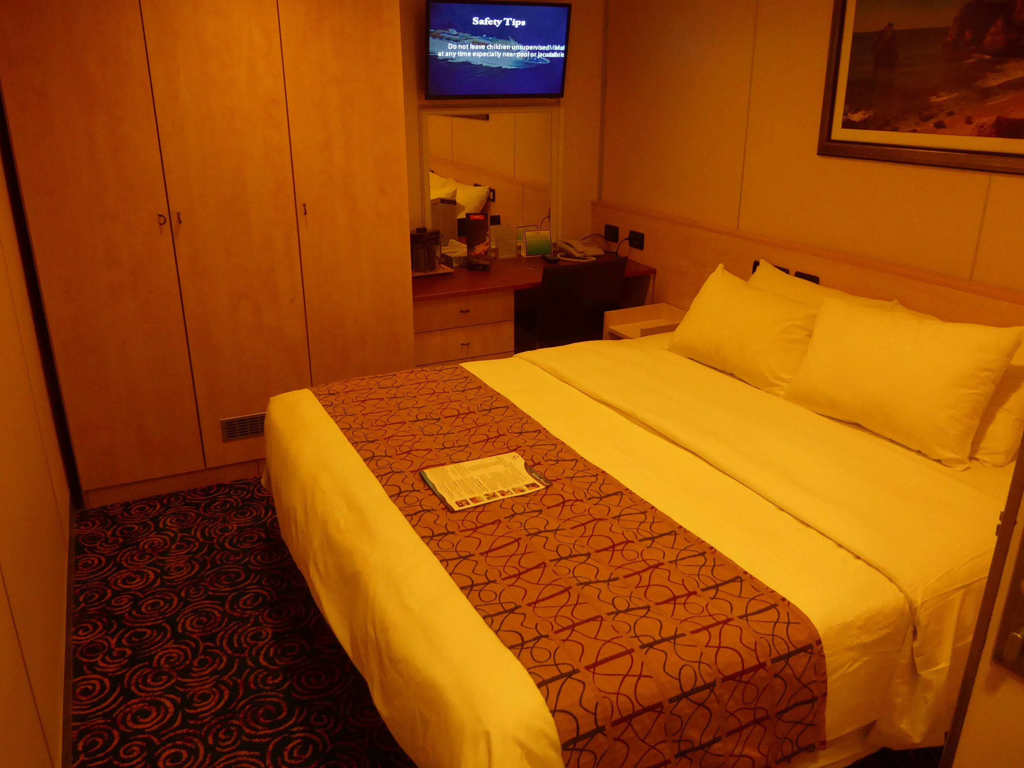 This is an Interior Stateroom with a different configuration. Oceanview and Interior Staterooms can accommodate up to four guests.