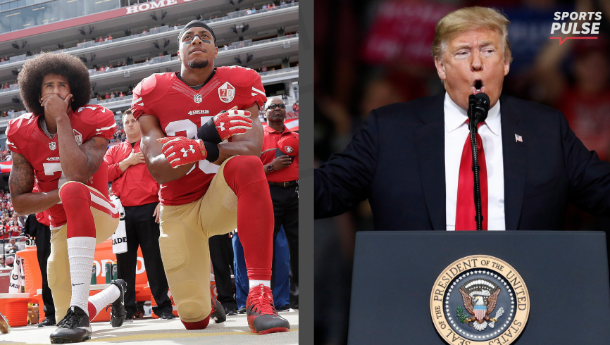 NFL player protests  Panthers  Eric Reid kneels during anthem 9cfb3c6c4