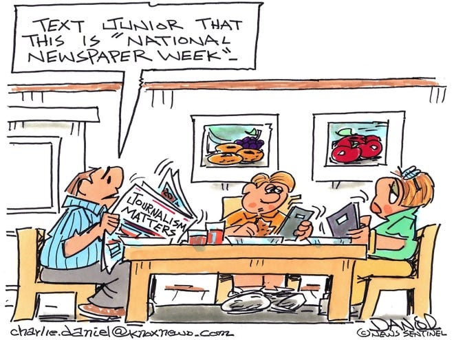 National Newspaper Week is Oct. 7 to 13, 2018. The cartoonist's homepage, knoxnews.com/opinion/charlie-daniel