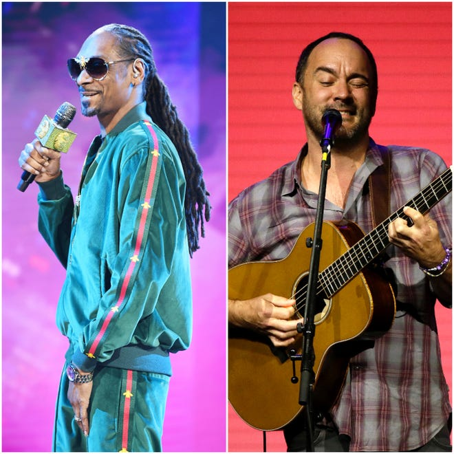 1990s music icons Snoop Dogg and The Dave Matthews Band didn't make the cut.