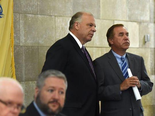 Senate President Steve Sweeney and Assembly Speakeer Craig Coughlin
