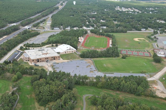 Central Regional Middle School, as seen from the air.