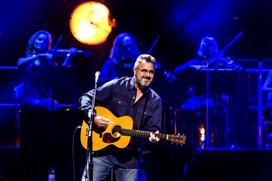 The Eagles perform at Madison Square Garden in New York City on Tuesday, Oct. 9 during their An Evening With The Eagles tour.