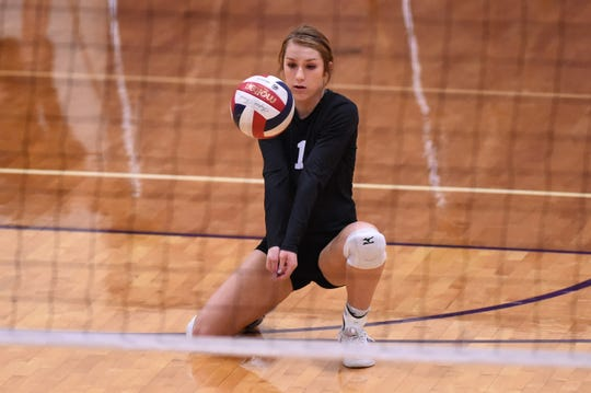 Wylie libero Pierson Sanders (1) is one of six seniors on this year's roster looking to go out on a high note. The Lady Bulldogs finished third in District 4-5A and ran into state power Amarillo High in the first round of the playoffs.