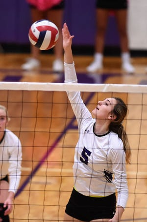 Wylie's Lilly Kate Doby (5) is one of two starting freshmen on this year's team. The Lady Bulldogs also have two sophomores who play key roles and will be in the postseason for the first time on Tuesday. Wylie will face No. 15 Amarillo High in the Class 5A bi-district playoff round at 6 p.m. in Brownfield.