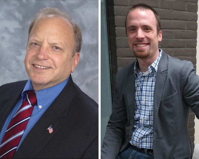 John Bizon, left, and Jason Noble, candidates for 19th District State Senator.