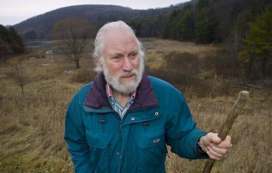 Dick Andrus at Binghamton University's Nature Preserve in 2007.