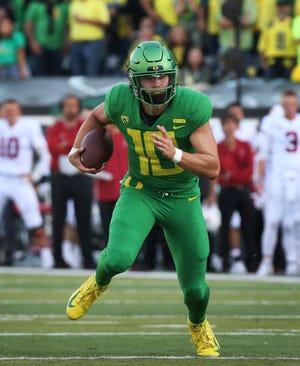 Oregon quarterback Justin Herbert
