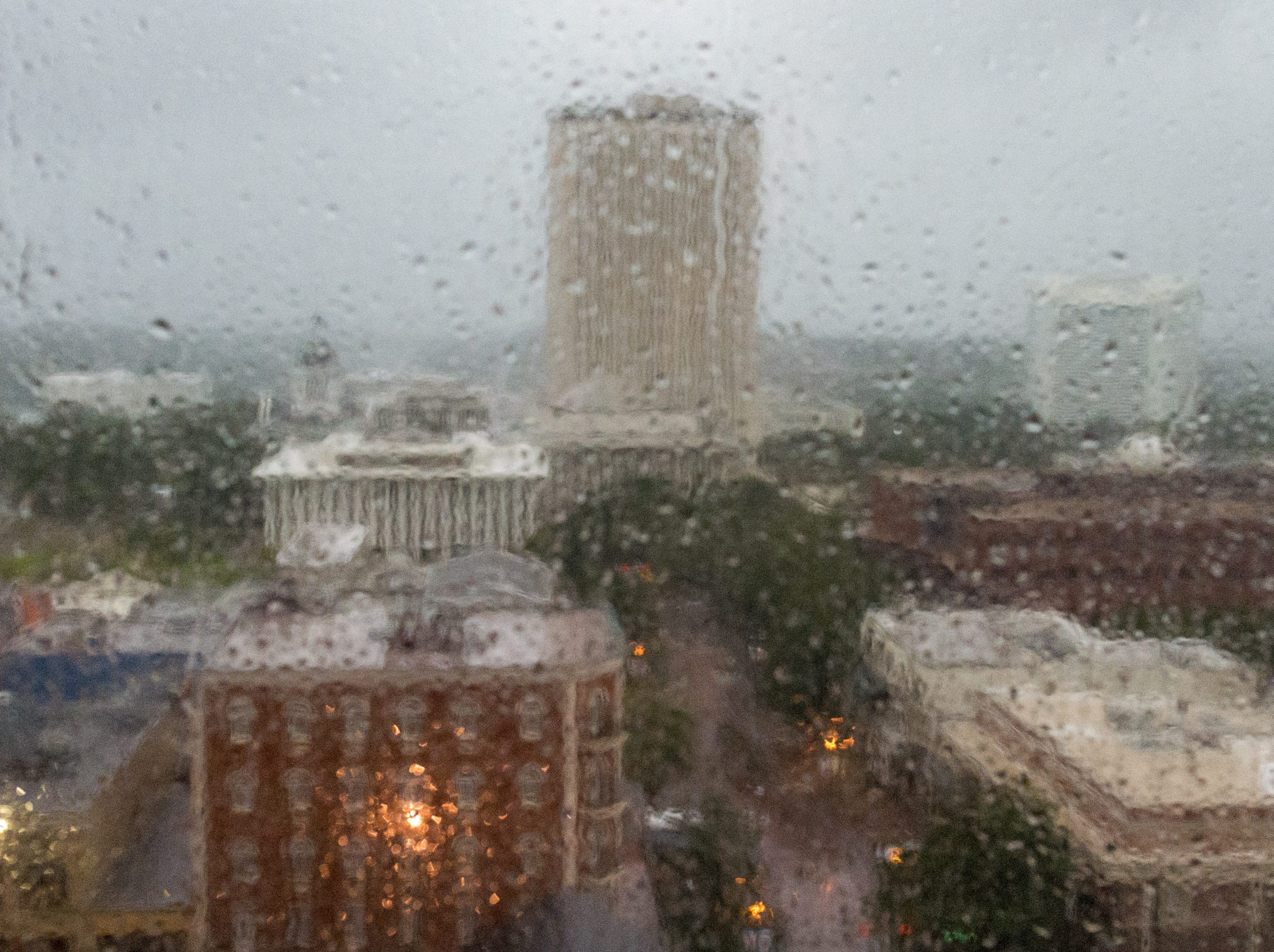 The State Capitol as Hurricane Michael arrives in Tallahassee, FL. Wednesday, Oct. 10, 2018.